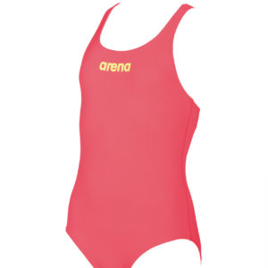 Arena G Solid Swim Pro Jr fluo-red-soft-green