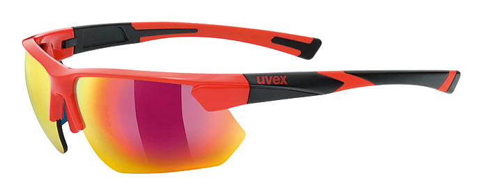 Uvex Sportstyle 221 red/black-mat