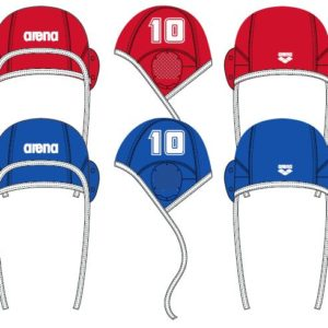 Arena Water Polo Cap blue (single nrs.)
