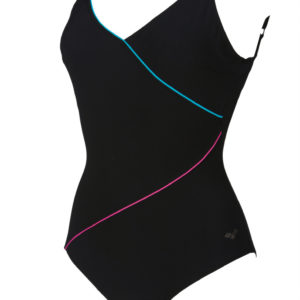 Arena W Tiffany U Back One Piece C-Cup black-persiangreen-ro
