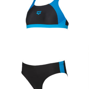Arena G Ren Two Pieces black-pix-blue-turquoise