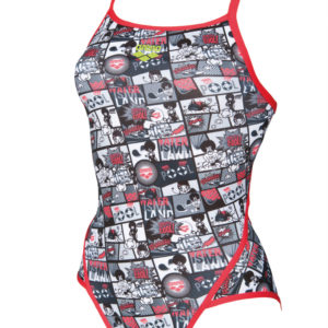 Arena W Comics Super Fly Back One Piece L fluo-red-black