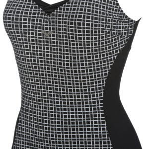 Arena W Therese Wing Back One Piece black-white