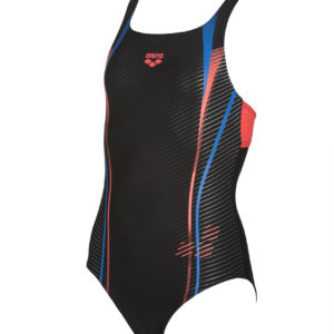 Arena G Roy Jr Swim Pro Back One Piece black-shiny-pink