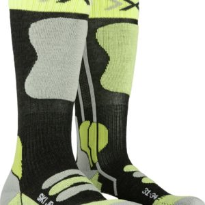X-Socks Ski Jr 4.0 anthracite/green