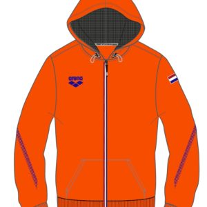 Arena Nederland Signature Hooded Jacket orange