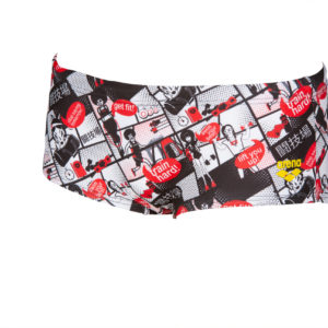 Arena M Comics Race Low Waist Short red-multi