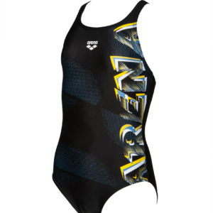 Arena G Draft Jr V Back One Piece black-yellow-star
