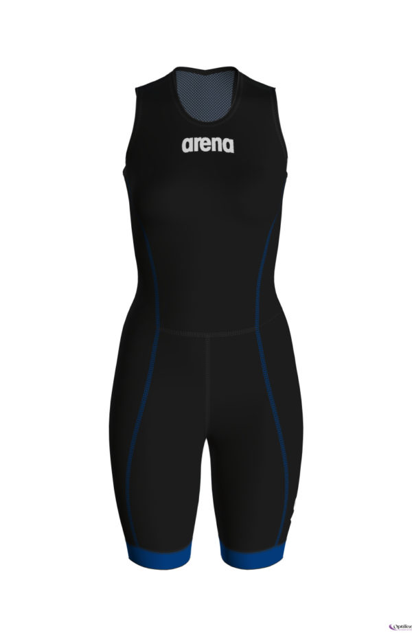 Arena W Trisuit St 2.0 Rear Zip black-royal
