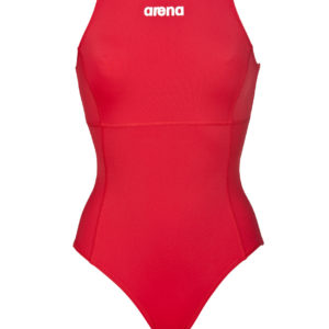 Arena W Solid Waterpolo One Piece red/white