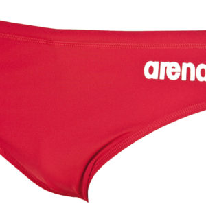 Arena M Solid Brief red/white